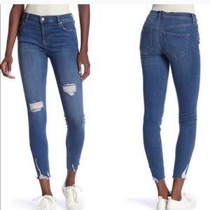 Free people shark bite high rise skinny jeans
